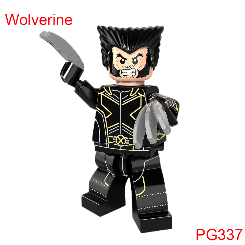 Single Sale Building Block Wolverine Action Figure Super Heroes Star Wars Mini Doll Christmas Gift Toys For Children Pg337 new hot 18cm one piece donquixote doflamingo action figure toys doll collection christmas gift with box minge3