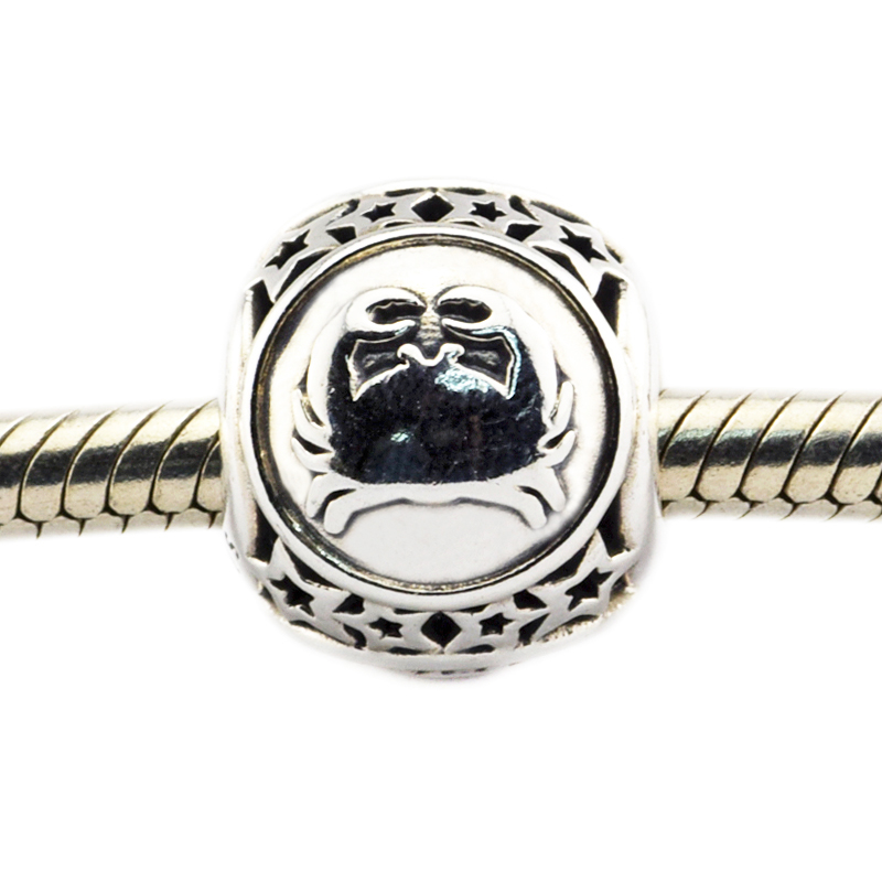 Fits For Pandora Bracelets Cancer Star Sign Charms 100% 925 Sterling Silver Beads Free Shipping