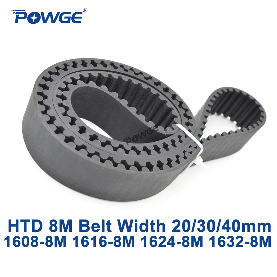 POWGE HTD 8M synchronous Timing belt C=1608/1616/1624/1632 width 20/30/40mm Teeth 201 202 203 204 HTD8M 1608-8M 1616-8M 1632-8M cob led headlamp rechargeable cob headlight white red green lights 18650 battery head torch flashlight for hunting night fishing