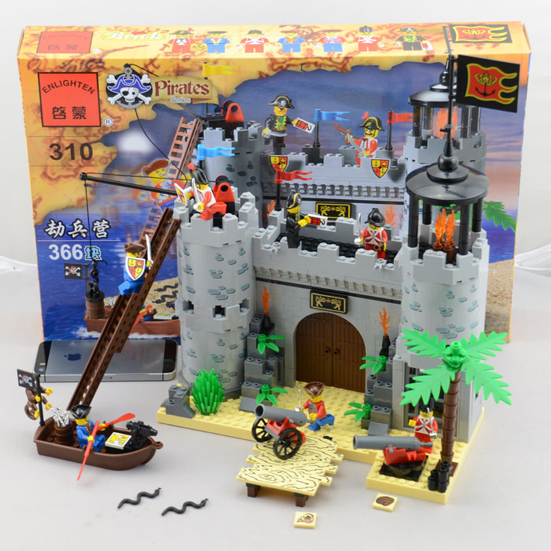 model building kits compatible with lego city pirate castle 310 3D blocks Educational model & building toys hobbies for children
