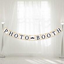 """Буквы """"Фотокабины» с блестками для студийной Фотокабины гирлянда висящий баннер флаг овсянка для романтической свадьбы, вечеринки украшения свадебные принадлежности"""