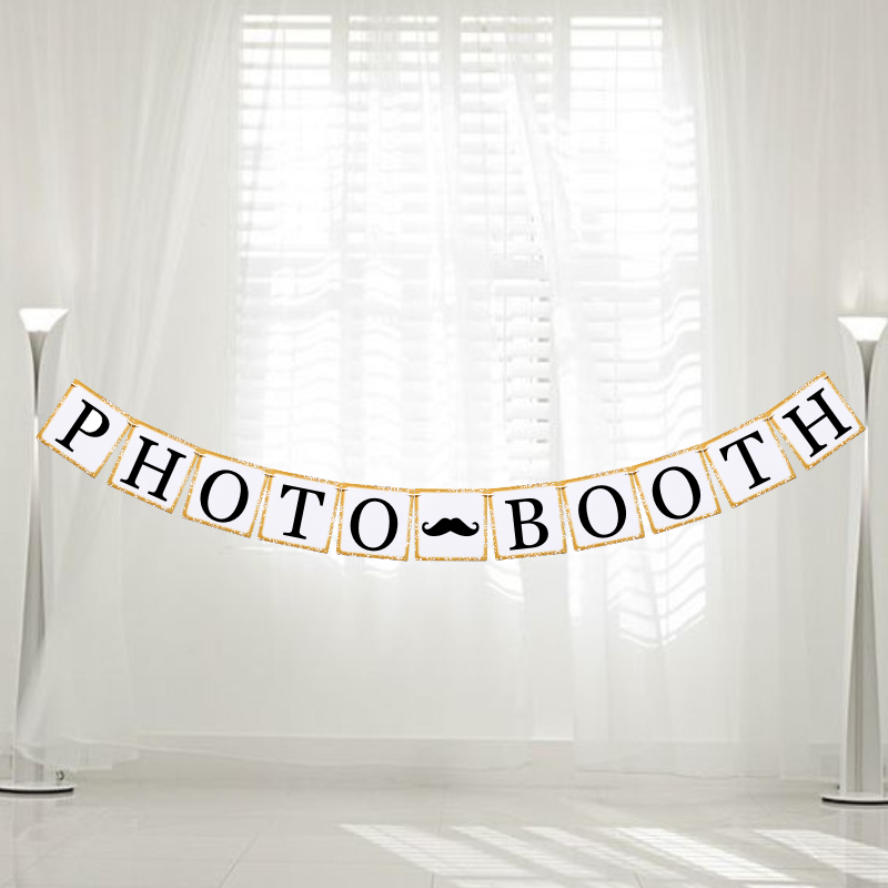 Letters PHOTOBOOTH Photo Booth Props Garland Hanging Banner Bunting Flag Romantic Wedding Party Decoration SuppliesLetters PHOTOBOOTH Photo Booth Props Garland Hanging Banner Bunting Flag Romantic Wedding Party Decoration Supplies