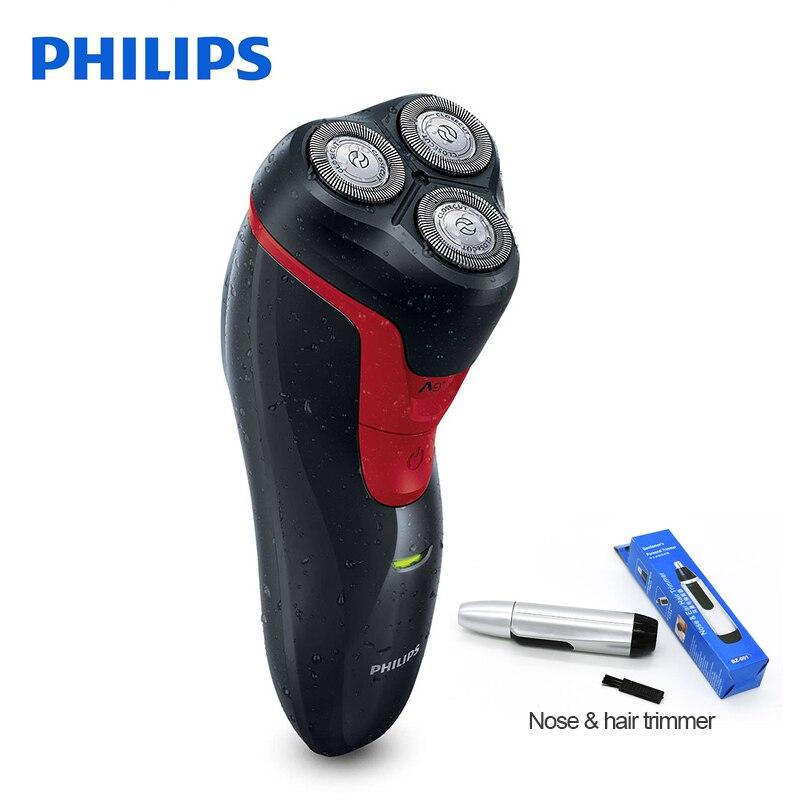 100% D'origine Philips rasoir Électrique FT688 Rechargeable Rotary Lavable Avec Poignée Ergonomique 3D Têtes Flottantes Ni-MH Batterie