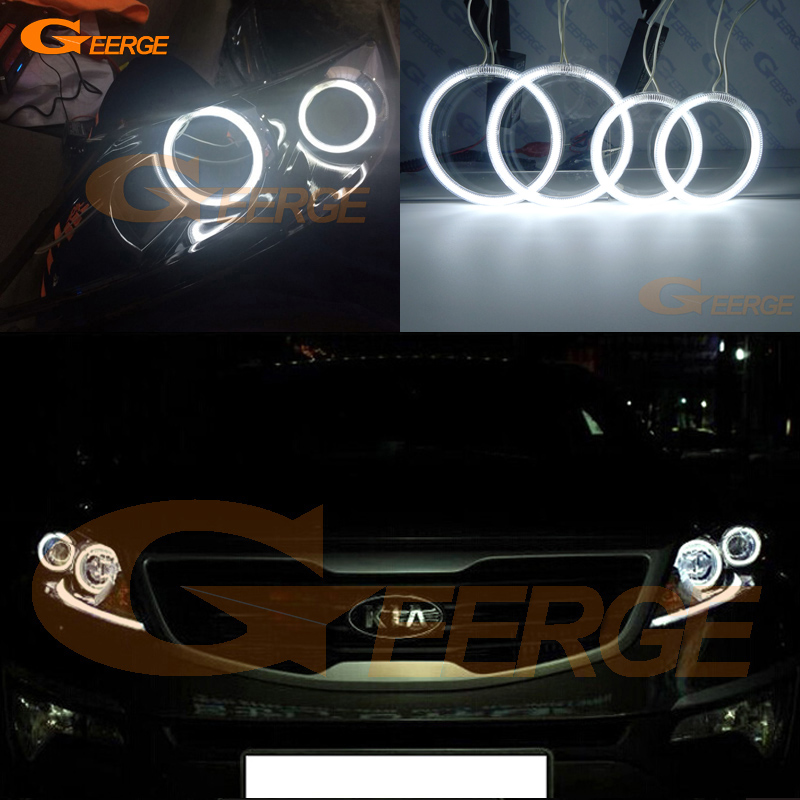 For Kia Sportage 2011 2012 2013 2014 2015 Excellent angel eyes Ultra bright illumination CCFL Angel Eyes kit Halo Ring for opel insignia 2008 2009 2010 2011 2012 2013 excellent ccfl angel eyes kit ultrabright illumination angel eyes kit halo ring