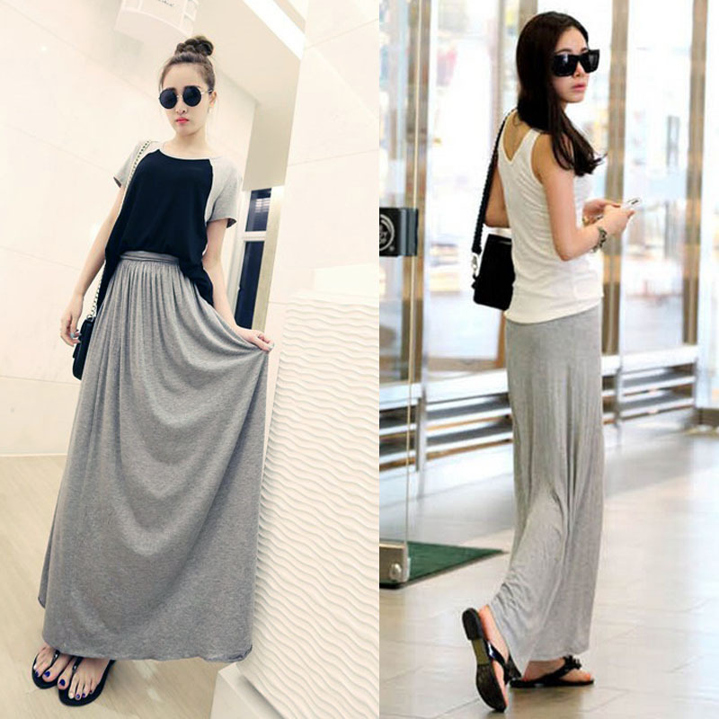 Full cotton maxi skirt – Modern skirts blog for you