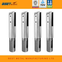 4 Pieces Square Core Drill Glass Spigot Mirror Polish Duplex 2205 Stainless Steel For Frameless Glass