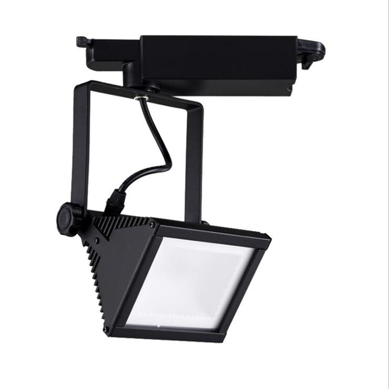 2018 new led track light cob 20w 30w clothing store square track lights led spot lights ac85-265v led light for rail led cob track lights clothing store