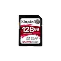 Kingston Technology SD Canvas React, 128 GB, SDXC, Clase 10, UHS I, 100 MB/s, Negro