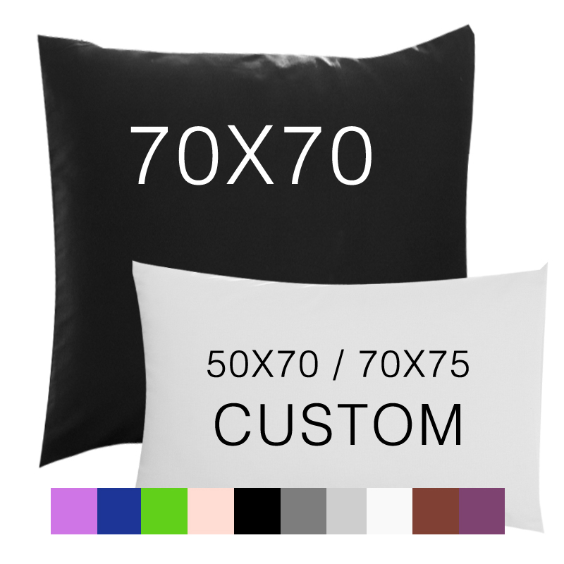 2PCS Pillow Case 70*70 50*70 50*75 Solid Pillowcase Decorative Pillow Cover Bedding For Hotel Wedding White