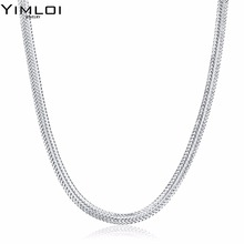 Punk Style Classic Silver Chain Necklace for Women & Men 925 Sterling Silver Choker Necklace Fine Jewelry Around His Neck 881