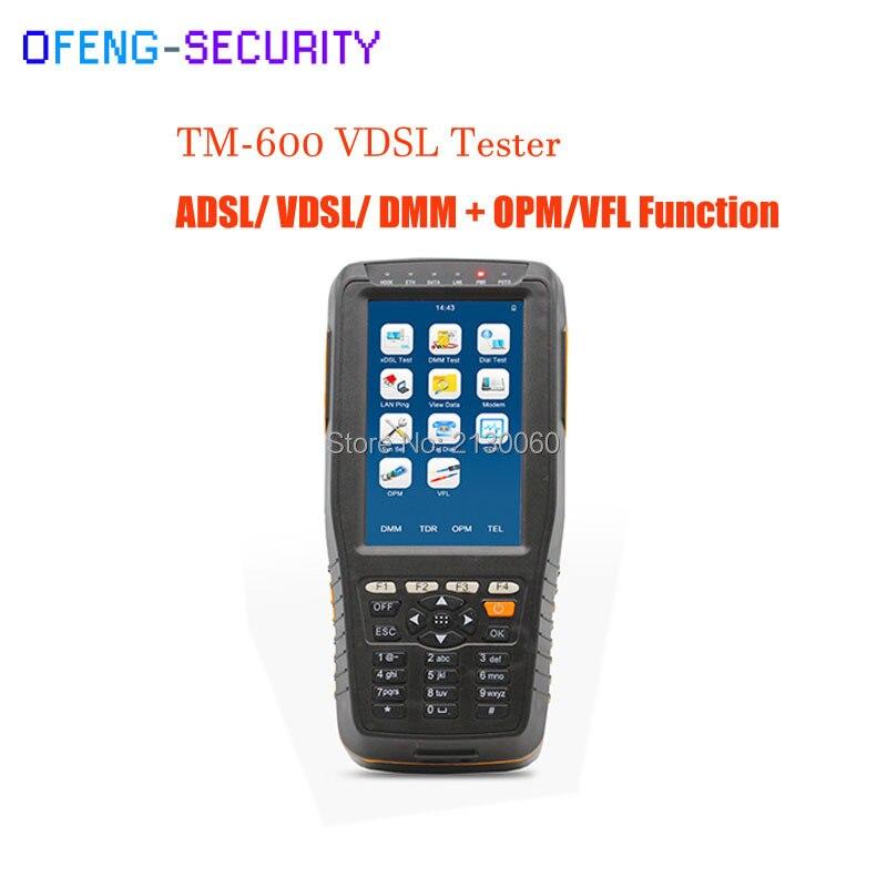 TM-600 VDSL VDSL2 Tester ADSL WAN & LAN Tester XDSL Line Test Equipment With Basic Version + OPM/VFL Function