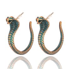 Купить с кэшбэком India Ethnic Cobra Dangle Drop Earrings for Women Female 2019 New Bohemian Trendy Party Earring Hanging Jewelry Accessories Gift