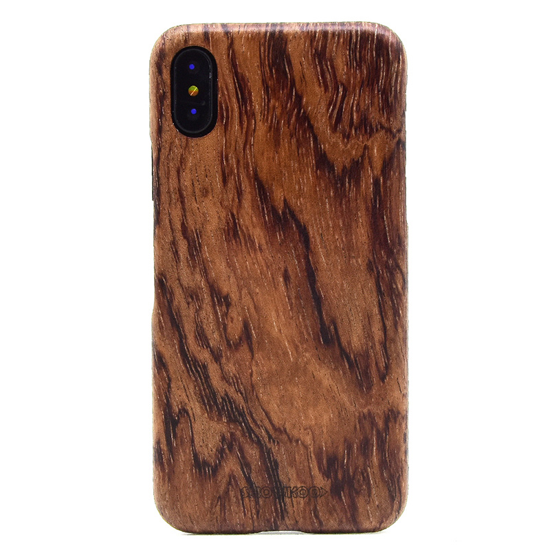 Showkoo Newest Natural Wood For <font><b>iPhone</b></font> X Case Cover Protective Bumper with Real Thin Slim Wooden Cover For <font><b>iPhone</b></font> X Case