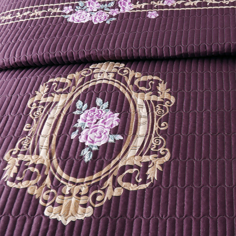 New Luxury Purple White Red Blue Gray High Quality Soft Thick Blanket Tatami Mat Bedspread Bed sheet Bed Linen Pillowcases 3pcs in Bedspread from Home Garden