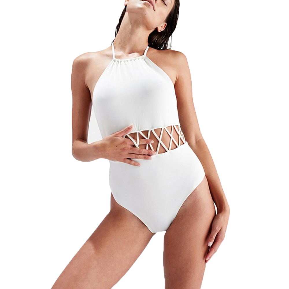 Hollow Sexy Women's Belt With Thick Sequins One-Piece Strapless Openwork Body Tights