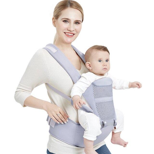 0 48 ay ergonomik bebek taşıyıcı sırt çantası Hipseat ile yenidoğan için çok fonksiyonlu bebek Sling Wrap bel dışkı bebek kanguru