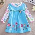 Envío gratis nova desgaste de los niños tienda de niñas ropa de algodón vestidos niños de la alta calidad del vestido del bebé vestidos de los niños vestido de manga larga chica