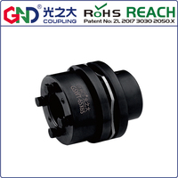 Shaft flexible couplings 45 Steel 8 screws high rigidity single diaphragm step locking accessory