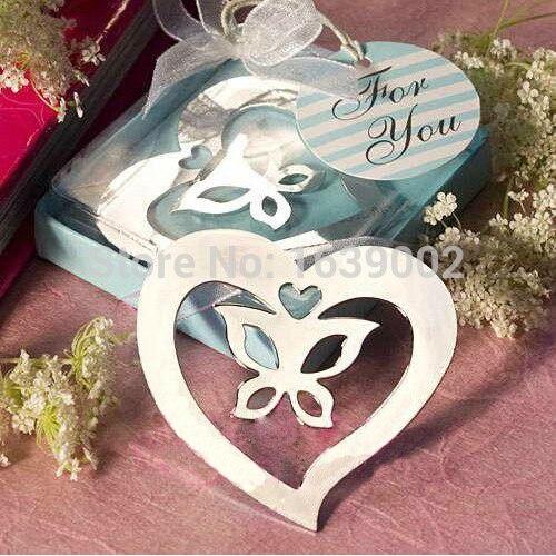 50 pcs Vente Coeur Papillon Signet Avec Gland Partie De Mariage Party Favors Cadeaux Fournitures Pour Les Clients dans Party Favors de Maison & Jardin