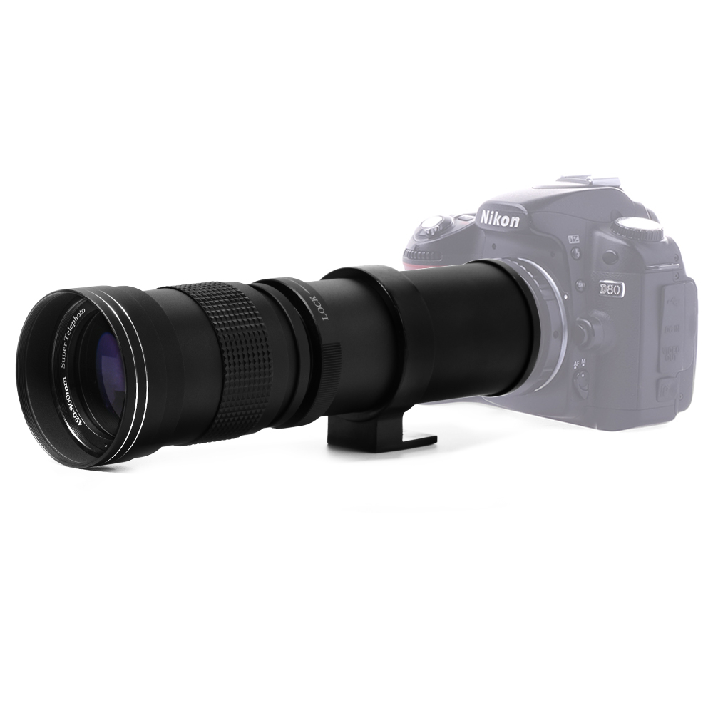 Lightdow 420-800mm F / 8.3-16 Super Telephoto Lens Manual Zoom Lens สำหรับ Canon Nikon Sony Pentax กล้อง DSLR