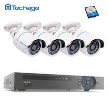 Techage Full HD 8CH 1080 P PoE NVR системы видеонаблюдения 4 шт. 2MP 3000TVL ip-камера P2P ИК открытый сети комплект видеонаблюдения 1 ТБ HDD