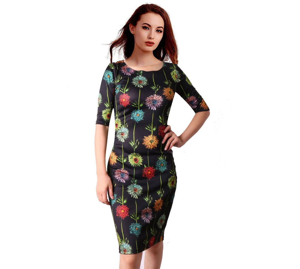 HTB1KE7rSFXXXXbjXXXXq6xXFXXXY - FREE SHIPPING Women Dress Floral Print JKP199