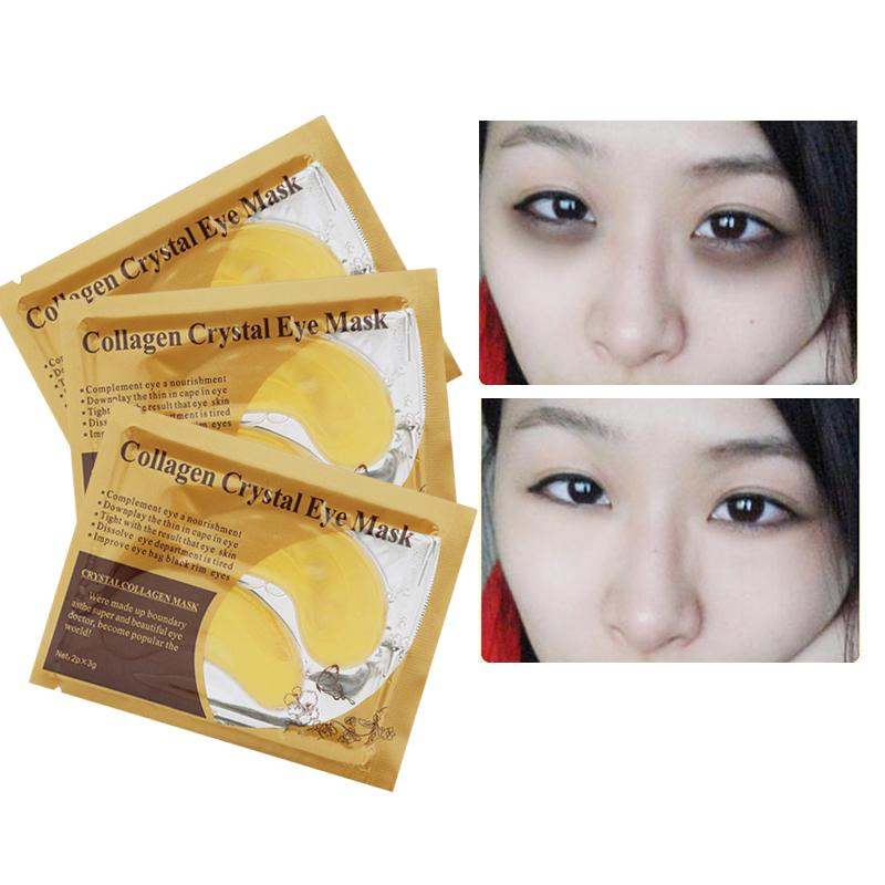 1pair Anti aging Crystal Collagen Moisture Eye Mask Eye Patches Anti Wrinkle Remover Eye Patch in Masks from Beauty Health