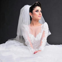 kejiadian Robes De Mariage Long Sleeve Muslim Wedding Dress