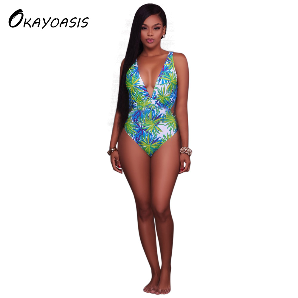 Wholesale Floral Bodysuit Sexy V Neck Ladies Skinny Bodysuits 2017 Women Strap Casual Beach Sleeveless Bodysuit