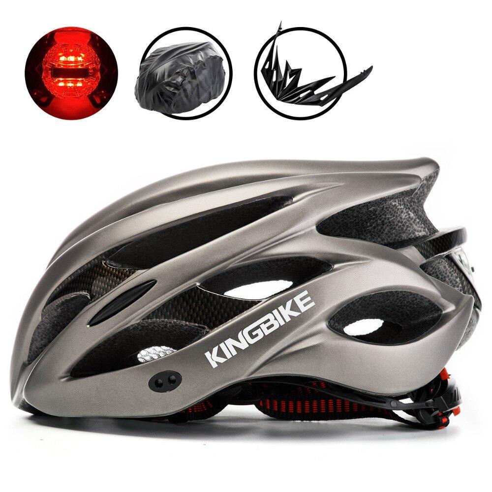 BASECAMP bicicleta titanio casco Ultralight In-Molde casco de ciclismo con visera transpirable Road Mountain MTB bicicleta al aire libre