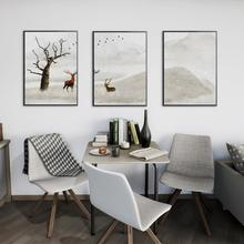 3Pcs/Lot Elk Animal Posters and Canvas Art Painting Wall Art Nursery Decorative Picture Nordic Style Kids Decoration modern style scenery posters canvas art painting wall art nursery decorative picture nordic style kids deco