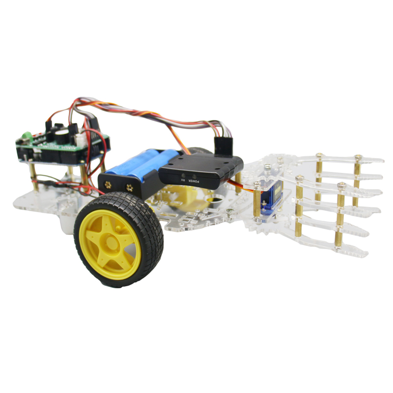 DIY Self-assemble Robot Car Arm with Wireless PS2 Remotro Control Board RC Toy Models For Kids Gift Birthday otto for arduino for nano rc robot open source maker obstacle avoidance walk dance diy humanity playmate 3d toys assemble models