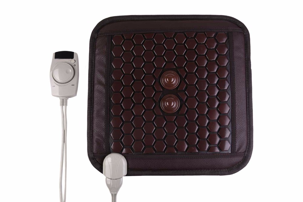 POP RELAX  Jade Tourmaline germanium Stones Far Infrared Therapy Heating Mat Jade Stone Massage Mat physiotherapy pad 45x45cm pop relax tourmaline health products prostate massager for men pain relief 3 balls germanium stone far infrared therapy heater
