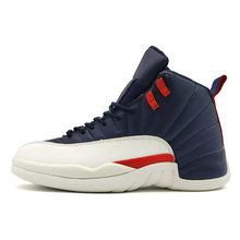 f9bb0f71937e High Quality Jordan 12 men basketball shoes Gym Red Basketball Shoes  Playoff white Blue Flu Game
