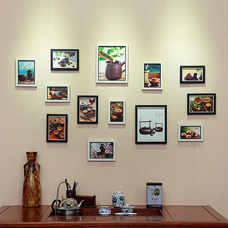 13 sztuk w stylu europejskim ściana z drewna kompozytowego ramka na - Wystrój domu - Zdjęcie 2