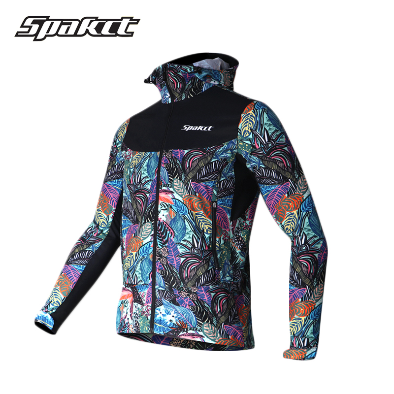 SPAKCT Windproof Running Jackets Printing Thermal Breathable Female Jacket Hiking Fishing Rainproof Jersey Cycling Bicycle Coat wosawe new raincoat cycling jacket waterproof windproof outerwear running mtb bike bicycle rain jackets jersey cycling clothing