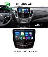 4 ядра 1024*600 Android 6,0 Автомобильная dvd навигационная система плеер аудио автомобиля стерео для Chevrolet Malibu XL 2016 2017 2018 головное устройство