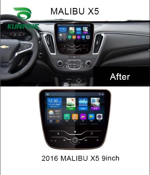 Quad Core 1024*600 Android 6.0 lecteur de voiture DVD GPS Navigation stéréo sans couvercle pour Chevrolet MALIBU XL 2016 2017 2018 Headunit