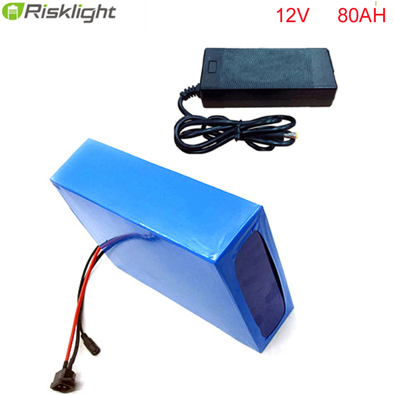 12v 80AH li ion battery pack long cycle life rechargeable 18650 battery pack for electric bike  with bms  and 5A fast charger delipow lithium iron phosphate battery charger charger for 1450010440 3 7v 18650 rechargeable li ion cell