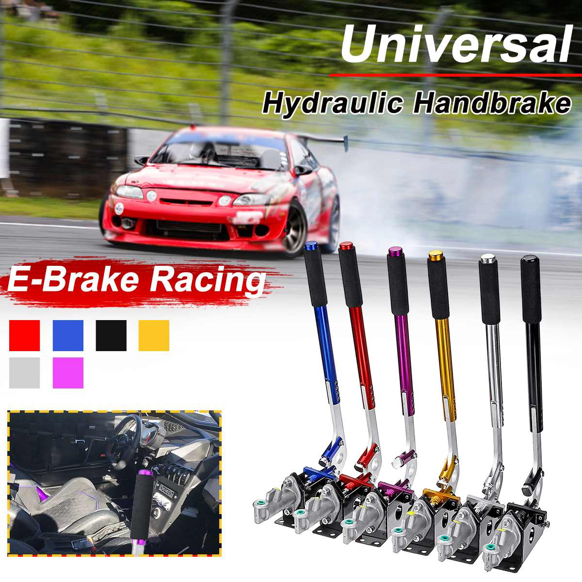 E-Brake Drift Universal Racing Hydraulic Parking Aluminum Lever-Gear title=