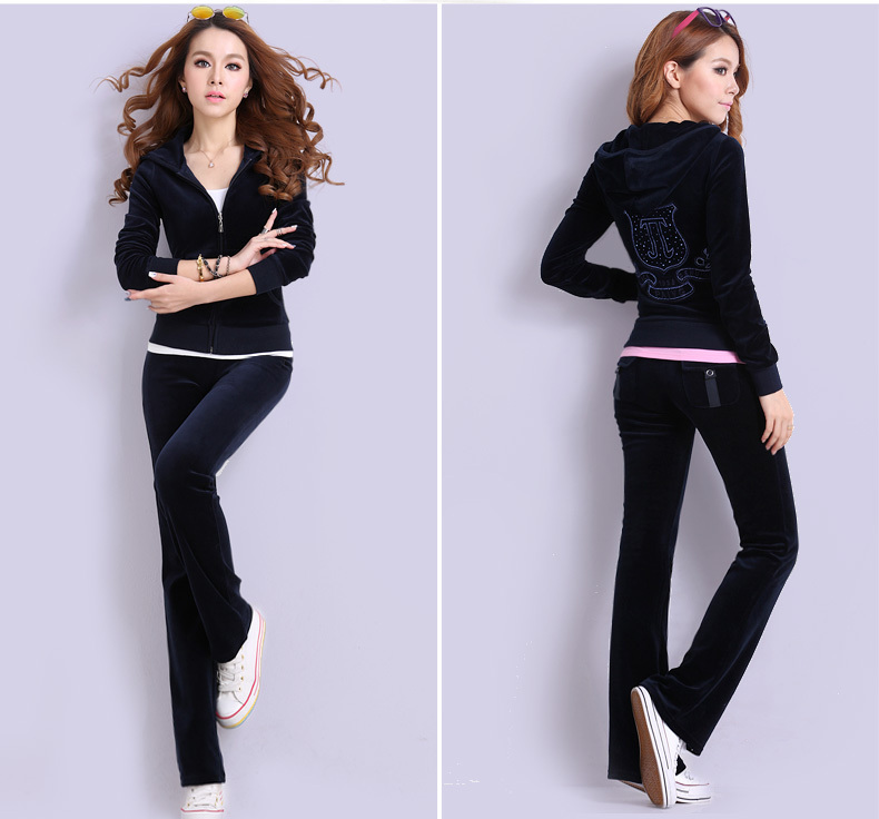 high quality female velour tracksuit women's sport suits