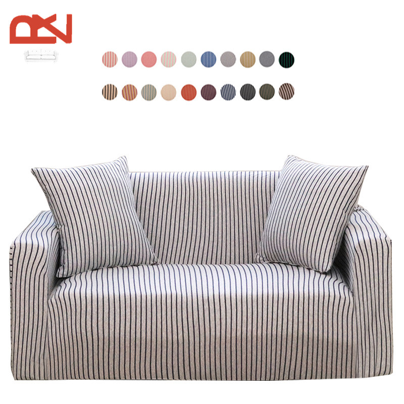 Sofa Covers Furniture Covers Modern Cotton Fabric Stripe Corner Couch  Universal Stretch Sofa Covers Protector Sofa