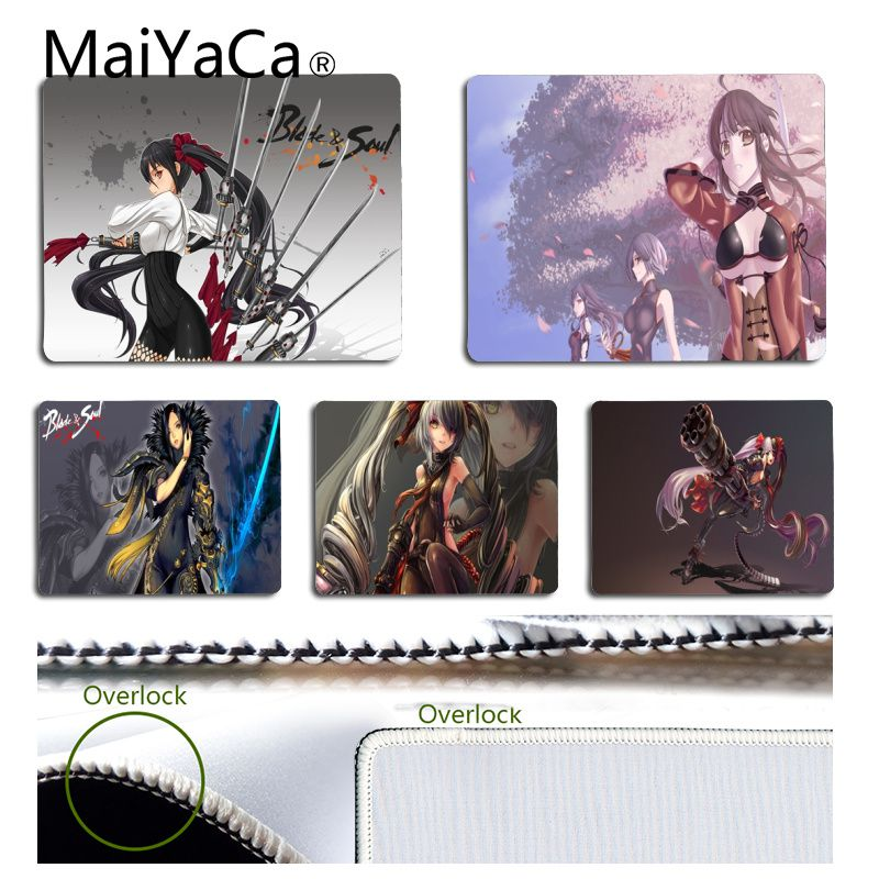 MaiYaCa Cool New Blade And Soul Anime Mouse Pads Of Computers Small Anti-slip Perfect Locking PC Computer Desk Mat