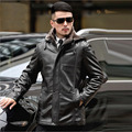 Free Shipping New Arrival Thickening Men High-grade Brand Leather Jacket Winter Leather Coat Men's Leather Fur Veste Cuir Homme