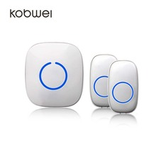 Portable Wireless Doorbell with 300m Operating Range and Over 50 Chimes