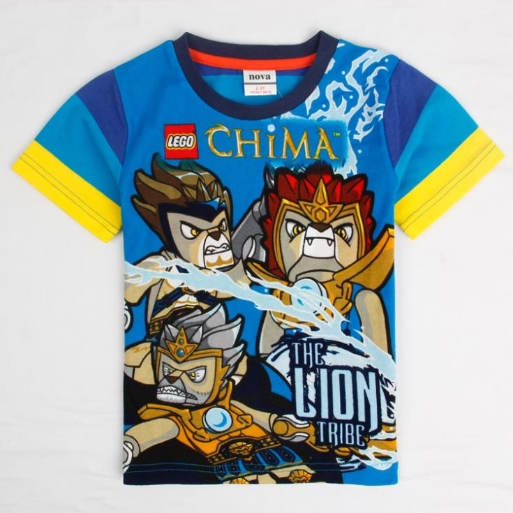 Top quality lego chima children's T shirts for boys kids