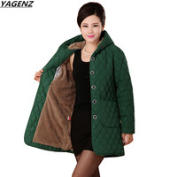 Women Coats Winter Cotton Jacket Parkas Plus Size XL 6XL New Fashion Middle aged Mother Clothing Thick Coat Outerwear YAGENZ 650