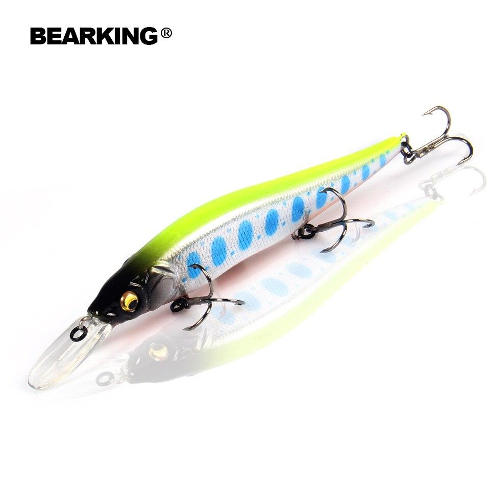 Bearking acción excelente a + señuelos de pesca, una variedad de colores, manive