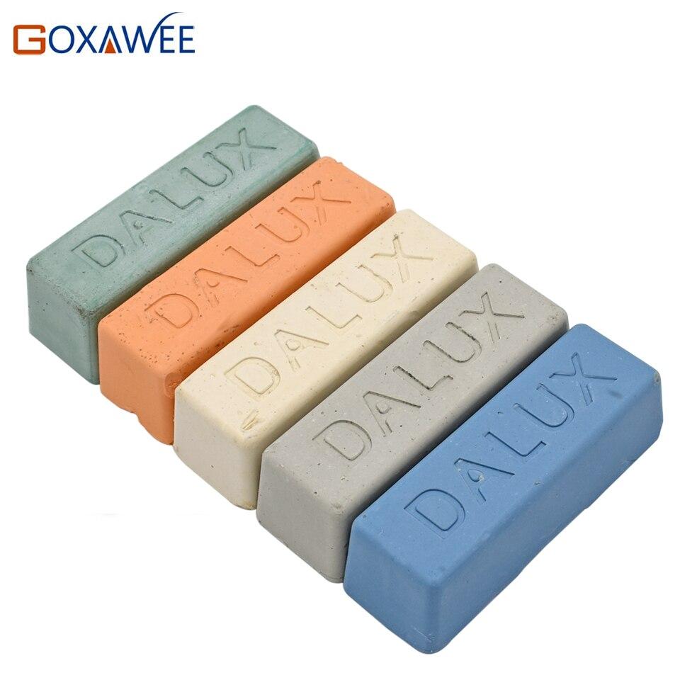 GOXAWEE 1 stück Buff Polieren Verbindung Metall schmuck Polieren Verbindung Schleif Paste Schleif Werkzeuge Blau, Weiß, Grau, gelb, Grün