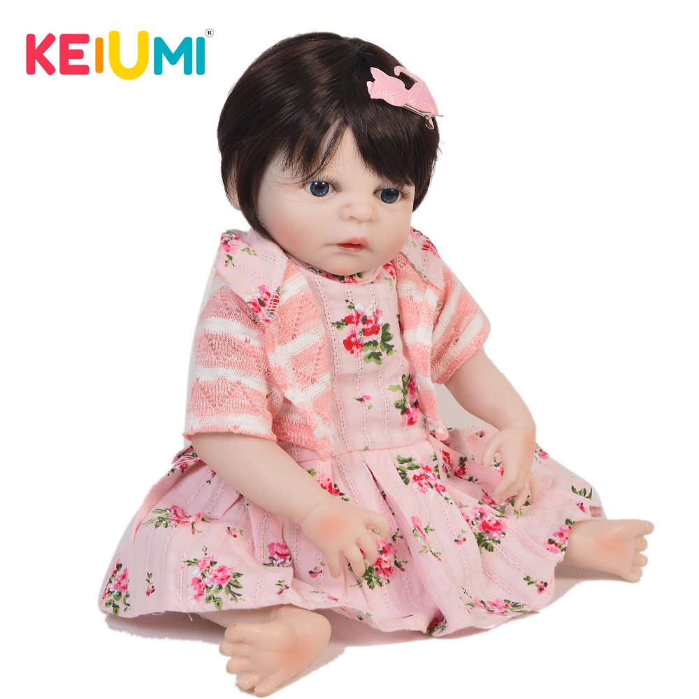 KEUIMI Collectible Reborn Baby Doll Full Body Silicone Realistic White Skin Princess Baby Doll For Girl